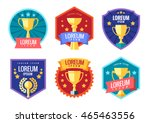 cup winner logo. emblems set.... | Shutterstock .eps vector #465463556