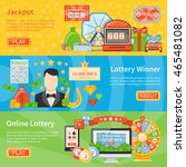 lottery and jackpot flat... | Shutterstock .eps vector #465481082