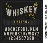whiskey fine label font  ... | Shutterstock .eps vector #465482135