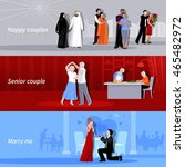 horizontal happy couples people ... | Shutterstock .eps vector #465482972
