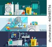 hygiene icons flat horizontal