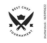 best chef badge vector... | Shutterstock .eps vector #465490622