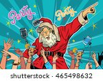 christmas party santa claus... | Shutterstock .eps vector #465498632