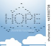 hope quote all birds in the sky ... | Shutterstock .eps vector #465500738