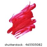red lip gloss smudge on white... | Shutterstock . vector #465505082