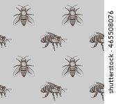 bees seamless vector pattern.... | Shutterstock .eps vector #465508076