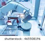 industrial robot working in...   Shutterstock . vector #465508196