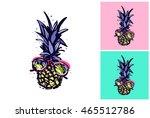 hand drawn summertime fashion... | Shutterstock .eps vector #465512786