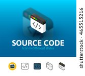 source code color icon  vector...