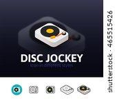 disc jockey color icon  vector...