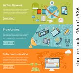 telecommunication horizontal...   Shutterstock .eps vector #465515936
