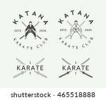set of vintage karate or... | Shutterstock .eps vector #465518888