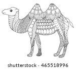 camel. black white hand drawn...   Shutterstock .eps vector #465518996