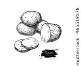 potato vector drawing. isolated ...   Shutterstock .eps vector #465519278