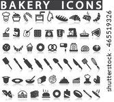 bakery icons   Shutterstock .eps vector #465519326