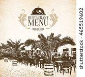restaurant menu design. vector... | Shutterstock .eps vector #465519602