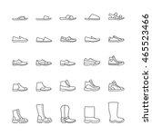 set of icons men's shoes.... | Shutterstock .eps vector #465523466