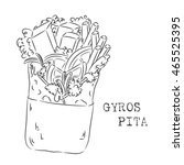 ink gyros pita sketch isolated... | Shutterstock .eps vector #465525395