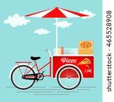 Pizza Bicycle Vintage Cart  Web ...
