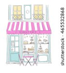 city cafe   Shutterstock .eps vector #465532868