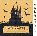 stylish halloween card with... | Shutterstock .eps vector #465534212