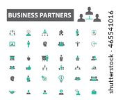 business partners icons | Shutterstock .eps vector #465541016