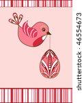 easter flying birdie. vector... | Shutterstock .eps vector #46554673
