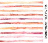 hand drawn watercolor striped... | Shutterstock .eps vector #465547745