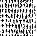 seamless pattern of kids... | Shutterstock .eps vector #46555711