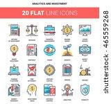 vector set of analytics and... | Shutterstock .eps vector #465559268