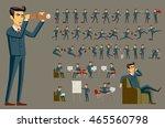 cartoon illustration of a... | Shutterstock .eps vector #465560798