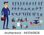 young cartoon businessman in... | Shutterstock .eps vector #465560828