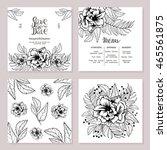 wedding printing in rustic... | Shutterstock .eps vector #465561875