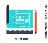 blueprint flat concept | Shutterstock .eps vector #465575282