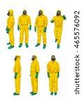 biohazard set on white | Shutterstock .eps vector #465576092
