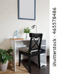 small work space in a... | Shutterstock . vector #465578486