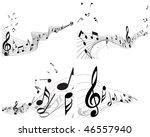 musical notes staff backgrounds ... | Shutterstock . vector #46557940