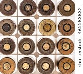 Small photo of a lot of old handgun pistol bullets ammo isolated over a white background