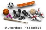 sports equipment. dumbbells ... | Shutterstock . vector #465585596