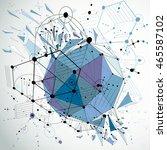 3d vector bauhaus abstract blue ... | Shutterstock .eps vector #465587102