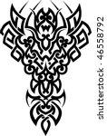 tribal tattoo | Shutterstock .eps vector #46558792