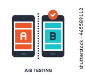 ab testing flat concept