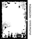 holiday placard for halloween.... | Shutterstock . vector #465589856