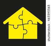 house puzzle  vector icon  eps10 | Shutterstock .eps vector #465595565