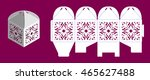 laser cutting vector template.... | Shutterstock .eps vector #465627488