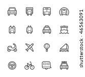 transportation icons. strokes... | Shutterstock .eps vector #46563091