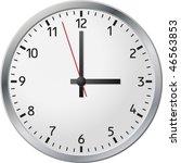 white wall clock.  vector... | Shutterstock .eps vector #46563853