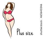 Girl Sketch Plus Size Model....