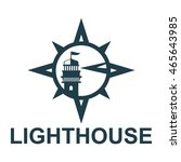 lighthouse logo design template | Shutterstock .eps vector #465643985