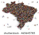 large and diverse group of... | Shutterstock . vector #465645785